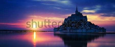 Naplemente Franciaország Európa nap fény világ Stock fotó © vwalakte