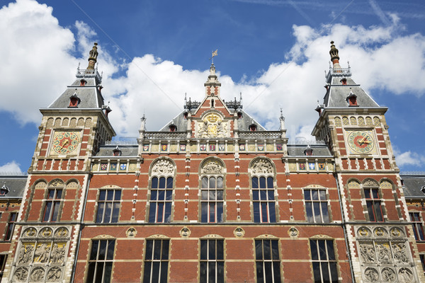 Amsterdam centraal station detail Nederland Stockfoto © vwalakte