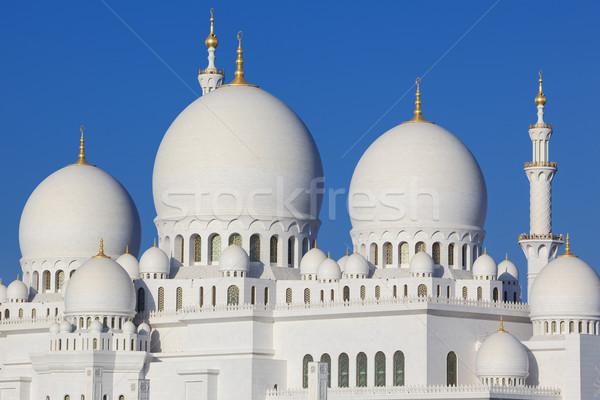 Mecset kék ég víz kék istentisztelet építészet Stock fotó © vwalakte
