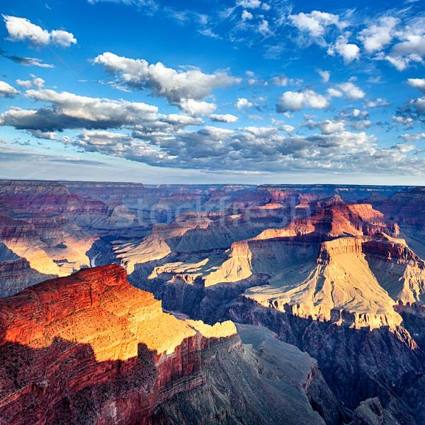 Grand Canyon piazza view mozzafiato sunrise USA Foto d'archivio © vwalakte