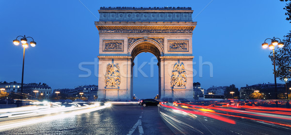 Arc de Triomphe by night Stock photo © vwalakte