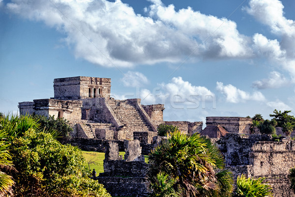 Famous historical ruins of Tulum  Stock photo © vwalakte