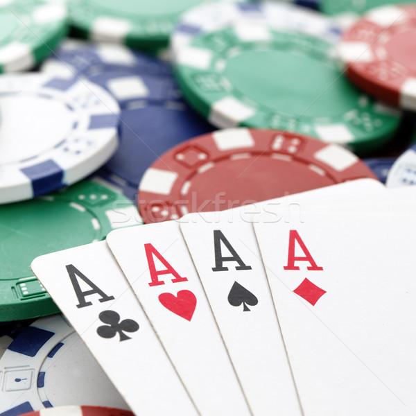 poker square Stock photo © vwalakte
