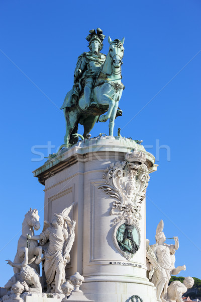 Statue of King Jose I Stock photo © vwalakte