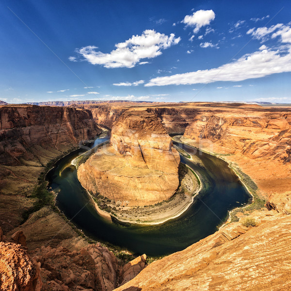 Famous view of horseshoe Bend Stock photo © vwalakte
