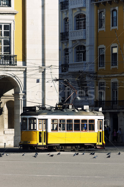 Typical yellow Tram Stock photo © vwalakte