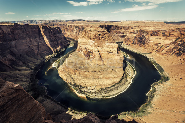 horseshoe Bend with special photographic processing Stock photo © vwalakte