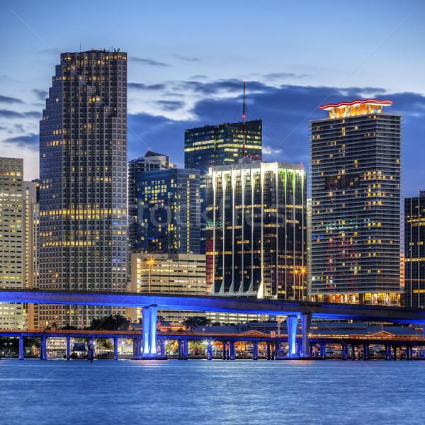 Cidade Miami Flórida negócio residencial Foto stock © vwalakte