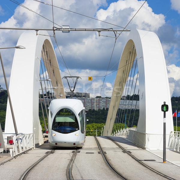 Tramway on the bridge Stock photo © vwalakte