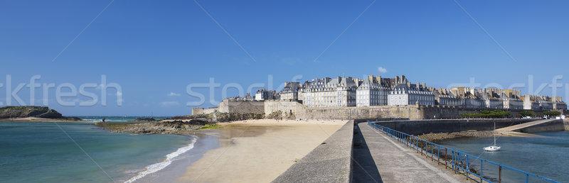 Panoramic view of Saint Malo Stock photo © vwalakte