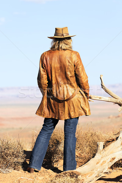 cowgirl style Stock photo © vwalakte