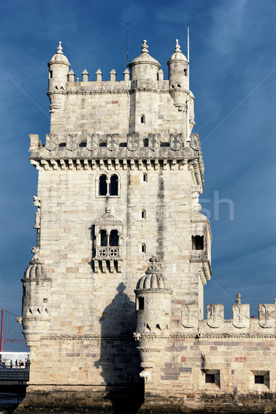 famous Belem Tower in evening Stock photo © vwalakte