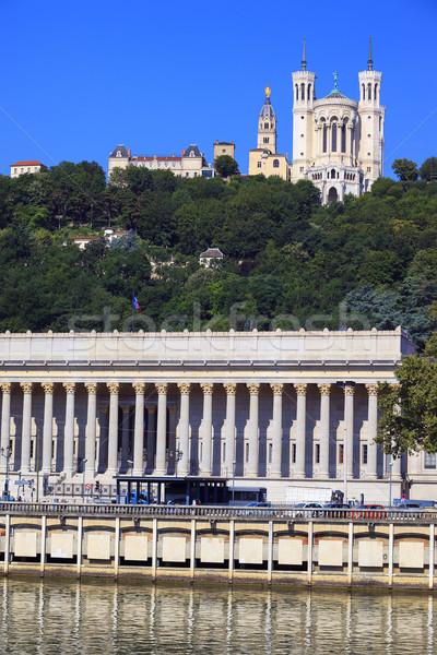 Giudice cattedrale Lione view Francia cielo Foto d'archivio © vwalakte