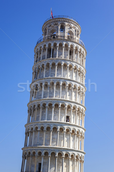Famous Leaning Tower of Pisa Stock photo © vwalakte