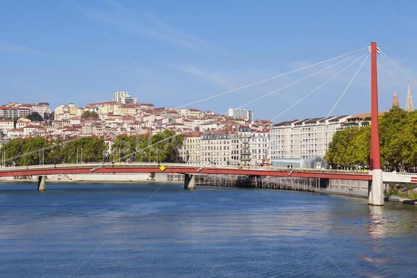 Lyon rivier Frankrijk water gebouw Stockfoto © vwalakte