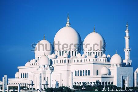 Сток-фото: мечети · ночь · мнение · известный · воды · синий