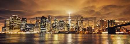 Panoramic view of Manhattan Stock photo © vwalakte