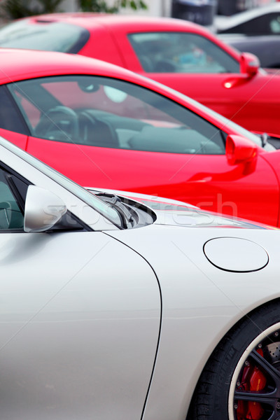 sports cars parked in a row Stock photo © vwalakte
