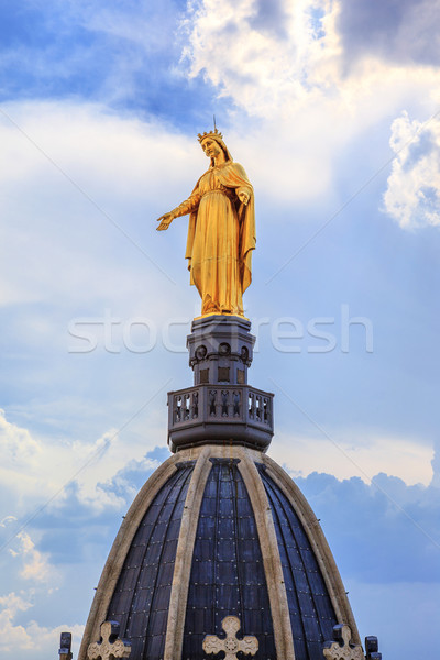 Golden Statue of Virgin Mary Stock photo © vwalakte