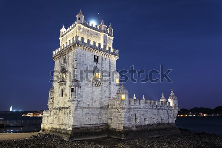 Belem tower at sunset Stock photo © vwalakte
