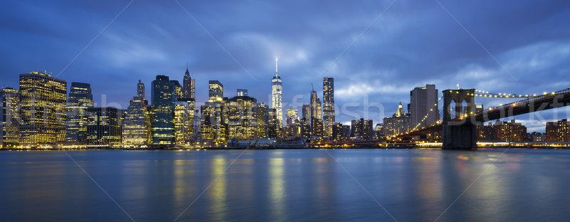 Panoramic view of New York City Stock photo © vwalakte