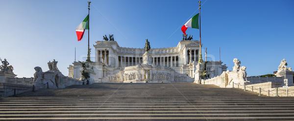 Monument Vittorio Emanuele II Stock photo © vwalakte