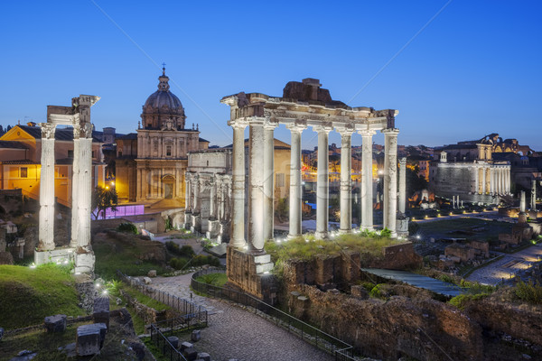 Ruines forum colline Rome Italie paysage Photo stock © vwalakte
