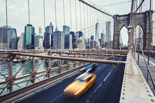 Brooklyn Bridge in New York City. Stock photo © vwalakte