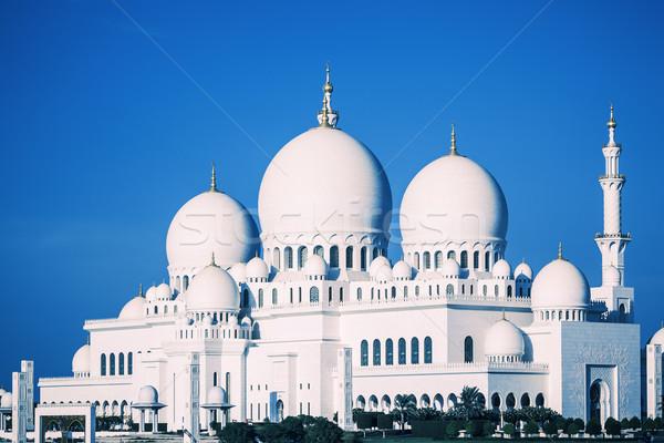 Moschea cielo blu view noto acqua blu Foto d'archivio © vwalakte