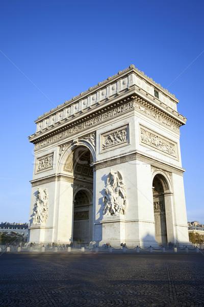 垂直 表示 有名な 凱旋門 パリ 車 ストックフォト © vwalakte