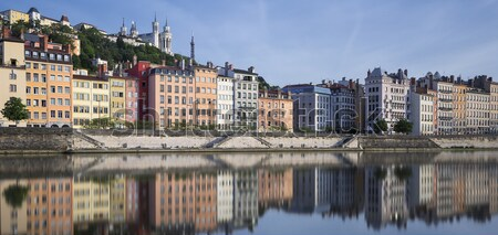 Saone River in the morning light Stock photo © vwalakte