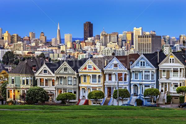ストックフォト: 表示 · 広場 · 黄昏 · サンフランシスコ · 道路 · 旅行