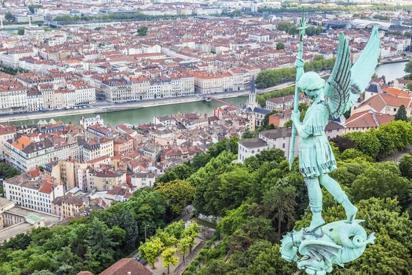 Lyon üst kilise seyahat Stok fotoğraf © vwalakte