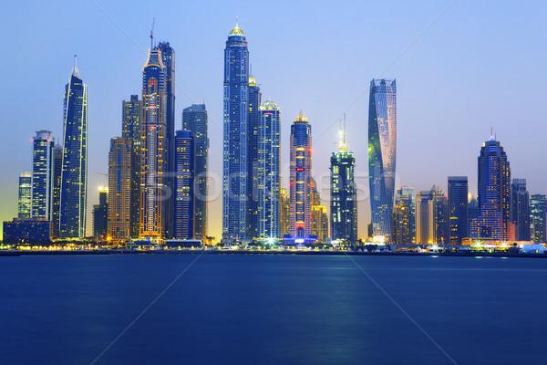 view of Dubai at sunrise Stock photo © vwalakte
