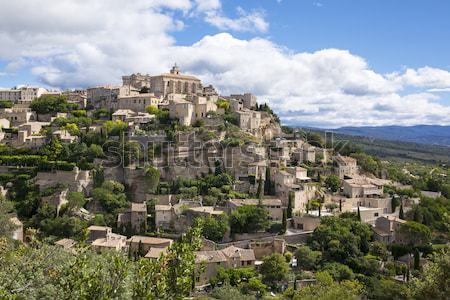 Gordes medieval village in Southern France Stock photo © vwalakte