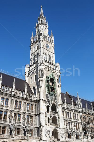 Médiévale mairie bâtiment Munich Allemagne ciel Photo stock © vwalakte