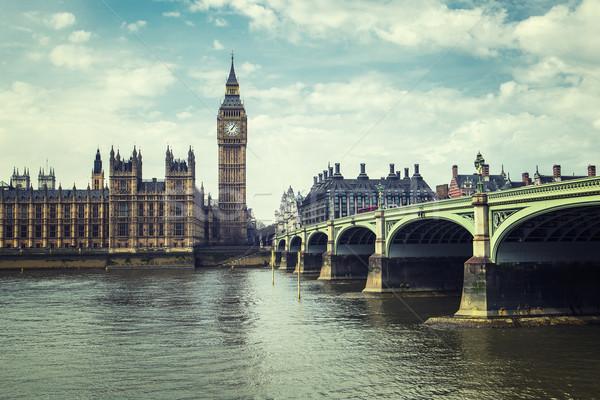 Big Ben maisons parlement Londres spéciale eau Photo stock © vwalakte