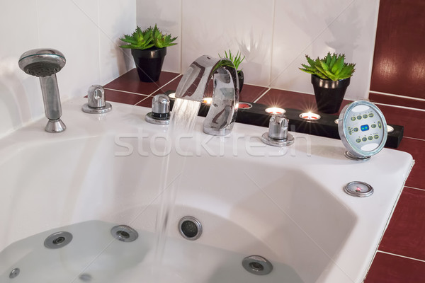 Jacuzzi bath with water Stock photo © vwalakte
