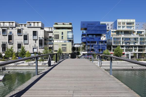 Wijk Lyon Frankrijk water glas brug Stockfoto © vwalakte