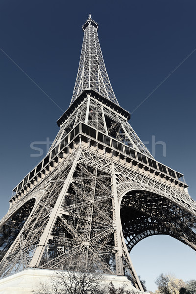 Eiffel tower with special photographic processing Stock photo © vwalakte
