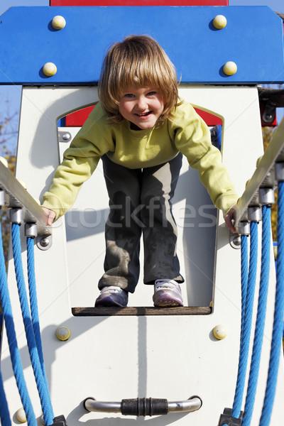 Zdjęcia stock: Radosny · dziecko · gry · gry · kolorowy · boisko