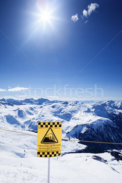Snow ski resort under the sun Stock photo © vwalakte