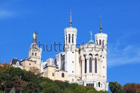 Lyon basílica França grande blue sky edifício Foto stock © vwalakte