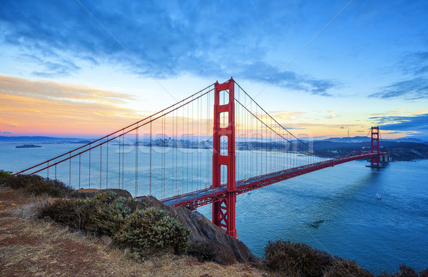 Famous Golden Gate Bridge, San Francisco Stock photo © vwalakte