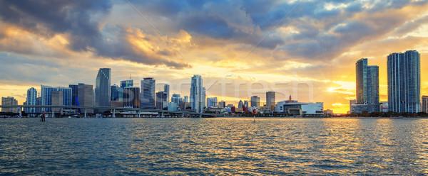 Miami, panoramic view Stock photo © vwalakte