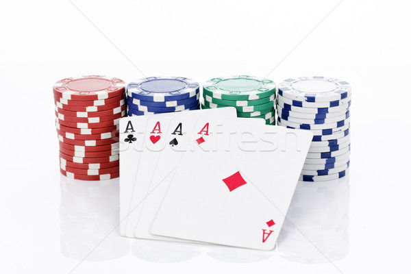 Four aces of a kind Stock photo © vwalakte