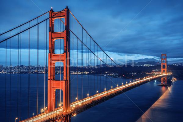 Golden Gate Bridge, blue hour Stock photo © vwalakte