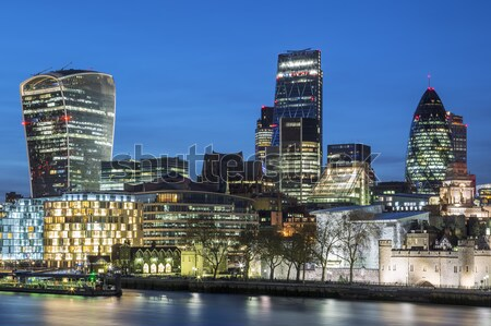 London skyline by night Stock photo © vwalakte