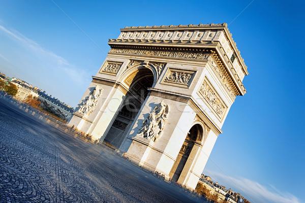 Beroemd Arc de Triomphe Parijs Frankrijk auto Stockfoto © vwalakte