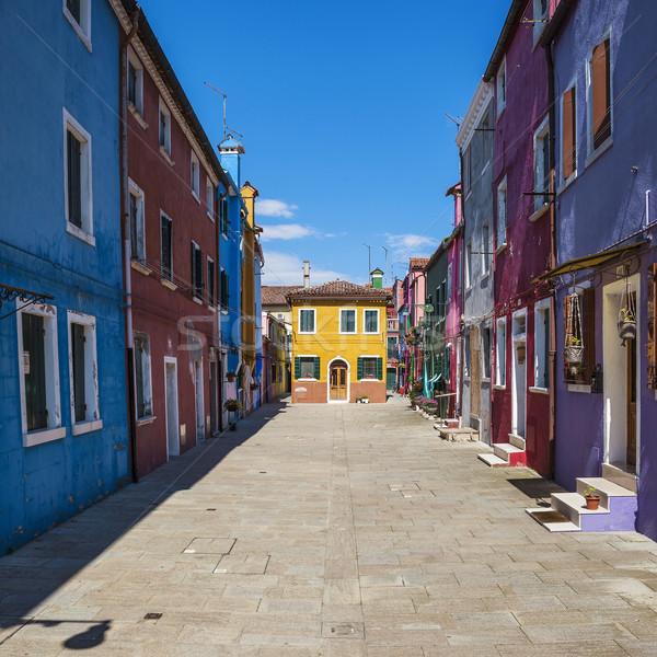 Színes utca Velence Olaszország út épület Stock fotó © vwalakte